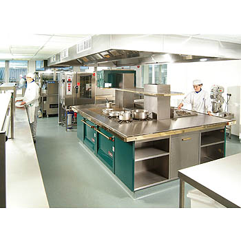 Kitchen on Commercial Training Kitchen  Swindon College